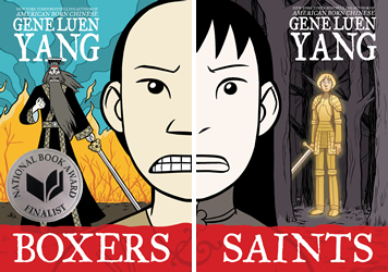 Boxers and Saints book covers