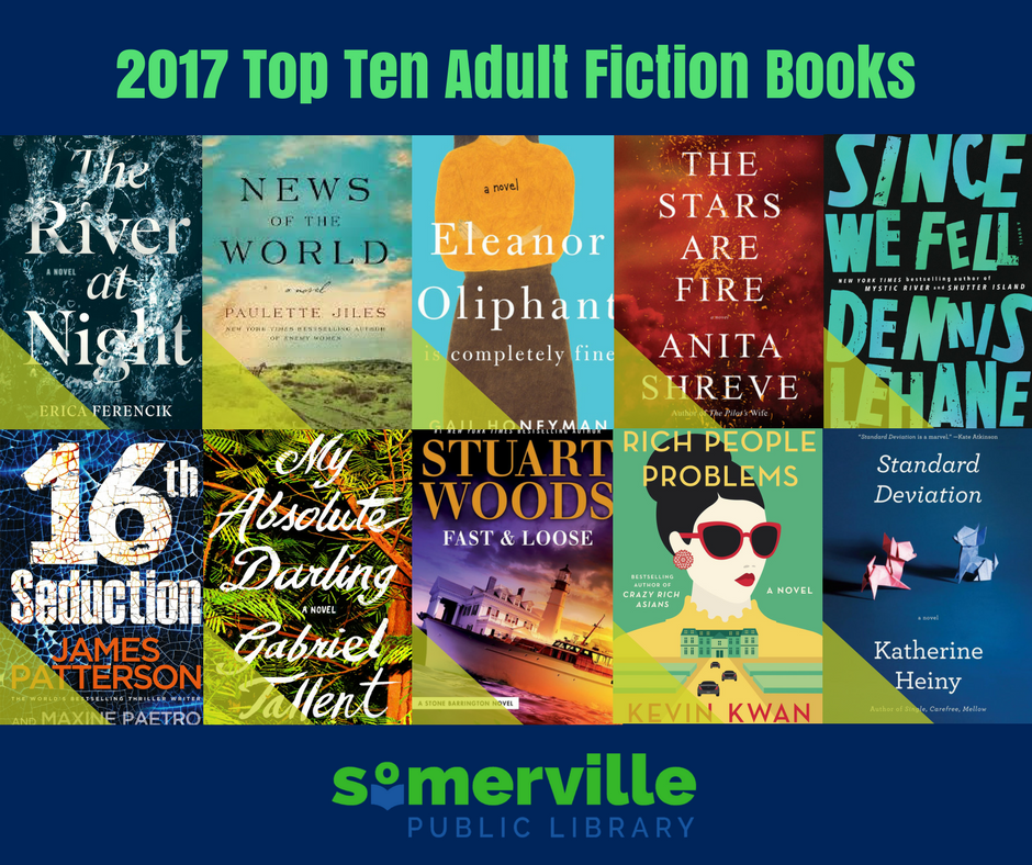 Book Covers for Top Ten 2017 Books in Somerville