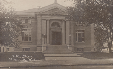 Somerville Public Library West Branch 1909 photograph
