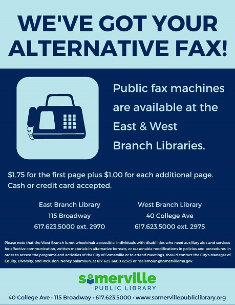 Flyer announcing fax services