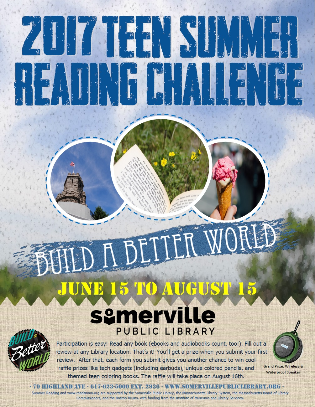 Flyer for Teen Summer Reading Challenge.