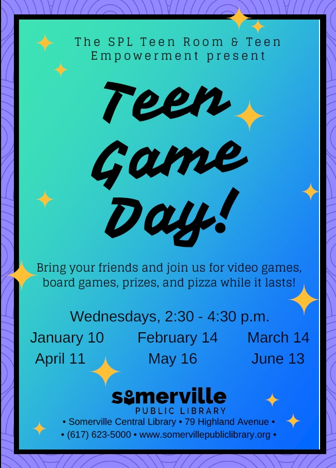 flyer for Teen Game Day