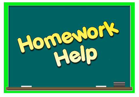 Clip Art Of Blackboard With The Words Homework Help
