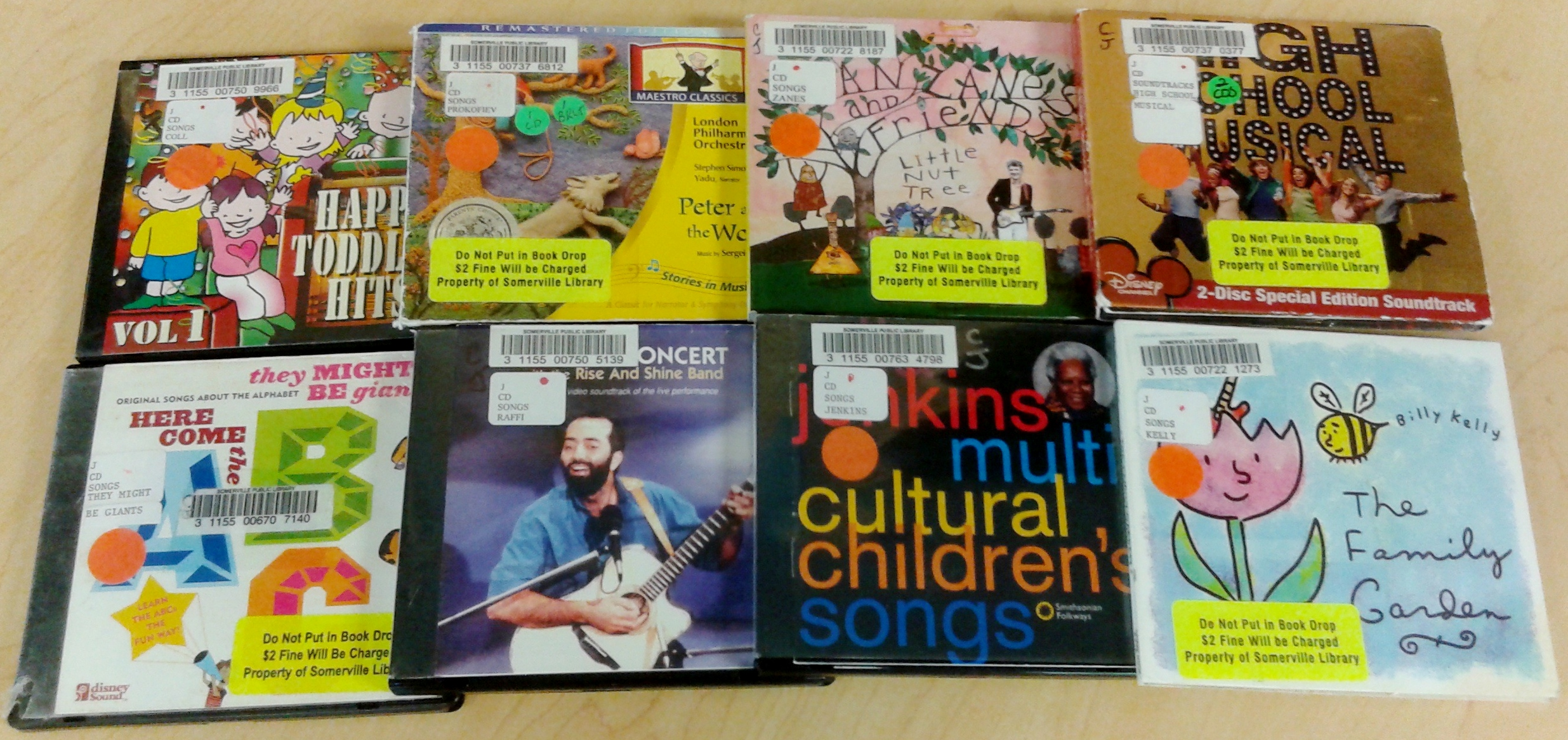 variety of music CDs for children