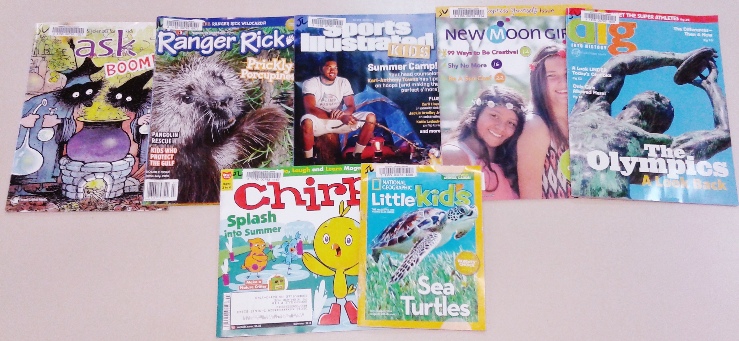 variety of magazines for children