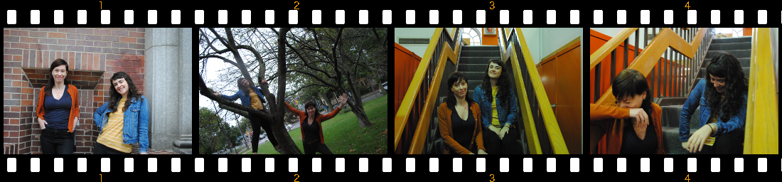 four photos of staff