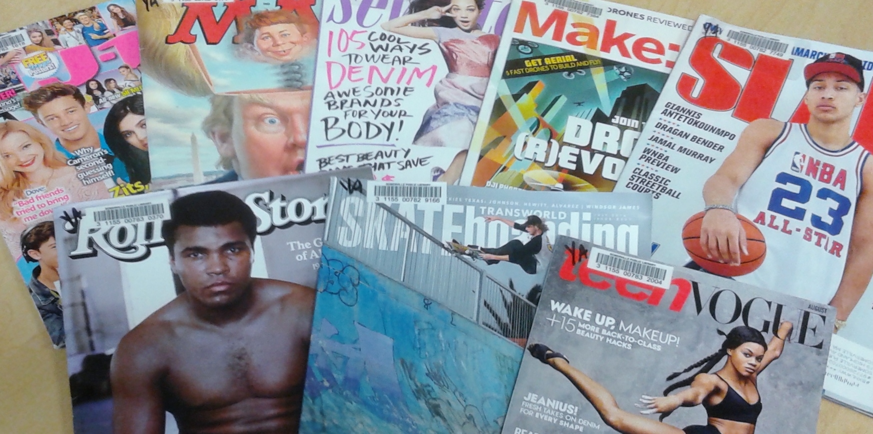 variety of magazines for teens