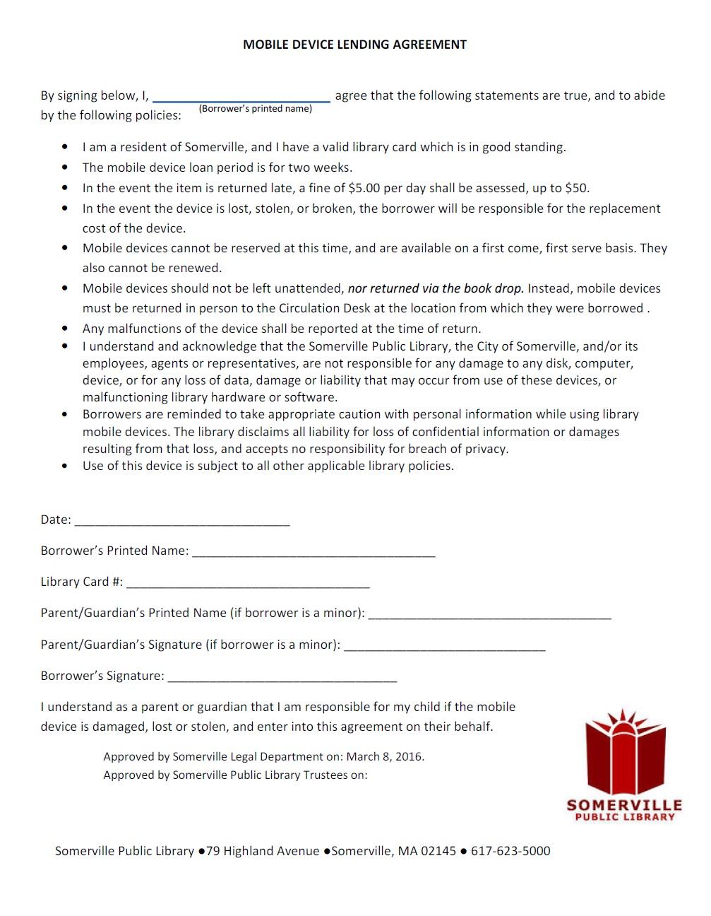 Mobile device lending agreement somerville public library blog archive platinumwayz