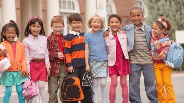 group of elementary school children