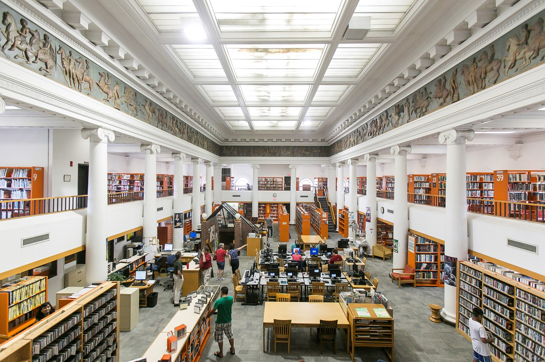 Image depicting reading room of Central library.