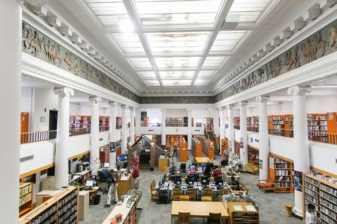 Top view of Somerville Public Library