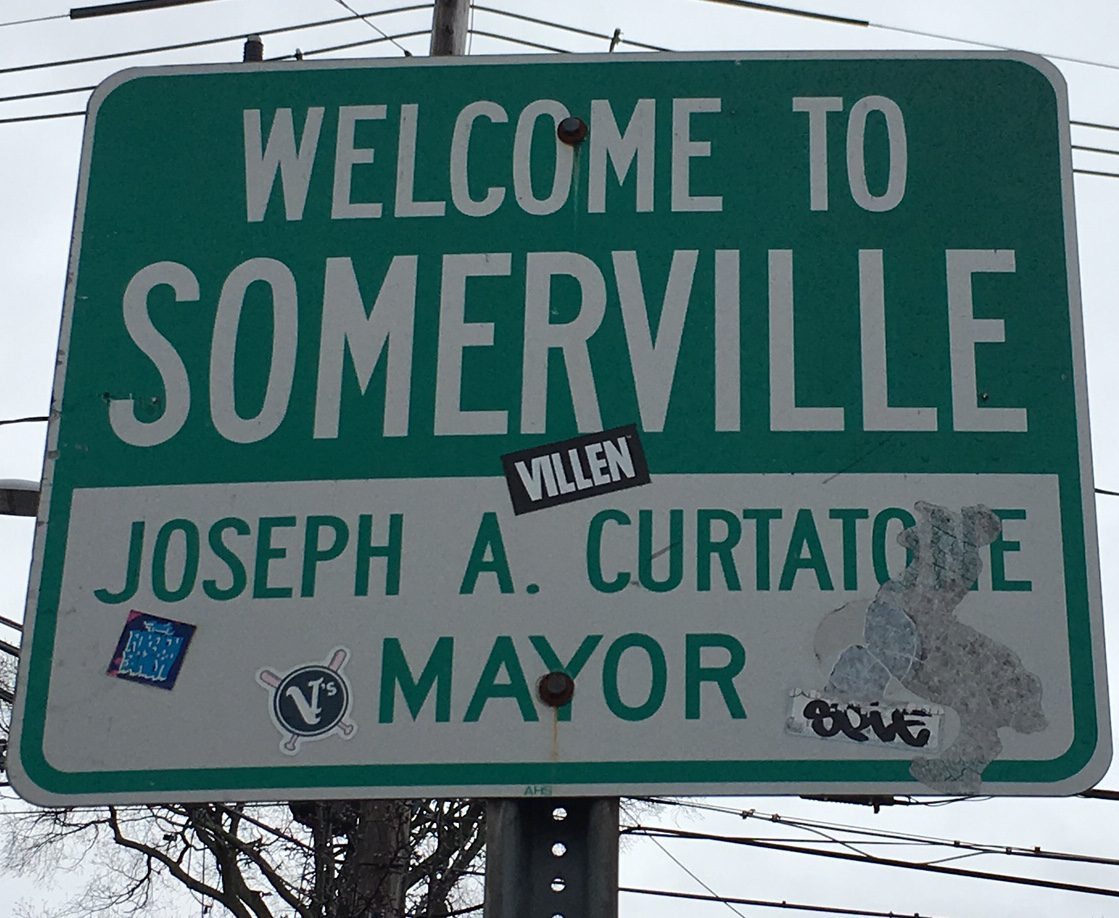 Image depicting a street sign for the City of Somerville.