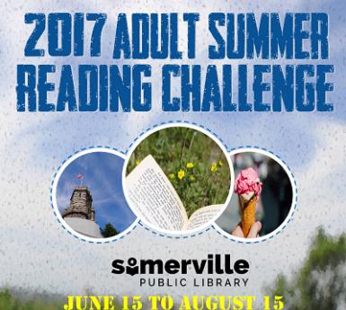 Adult Summer Reading Challenge Flyer