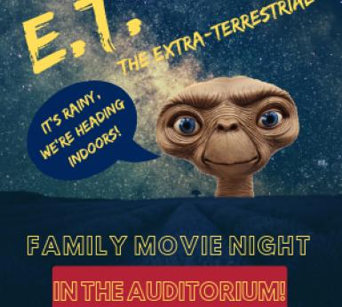 family movie night: E.T.