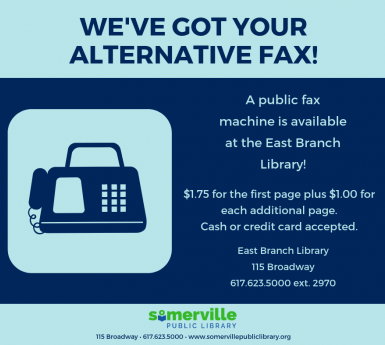 Fax Machines at East Branch