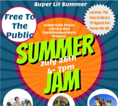 flyer for teen summer party