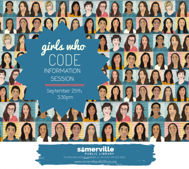 images of girls from Girls Who Code