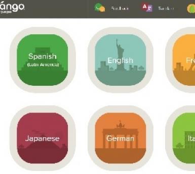Screen print of Mango Languages database logo