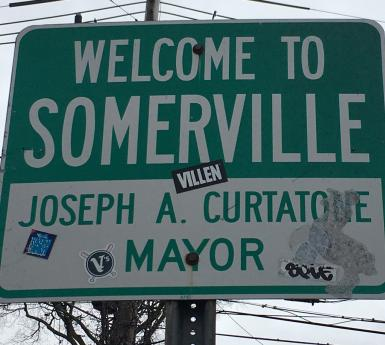Welcome to Somerville sign