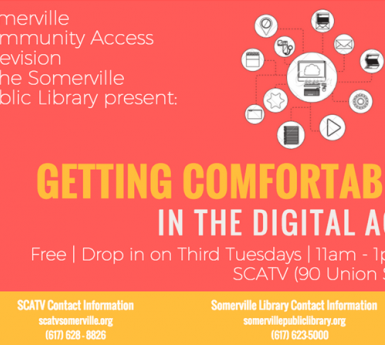 Poster for Getting Comfortable in the Digital Age classes