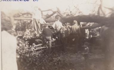 Hurricane 1938 Somerville Smashed Car