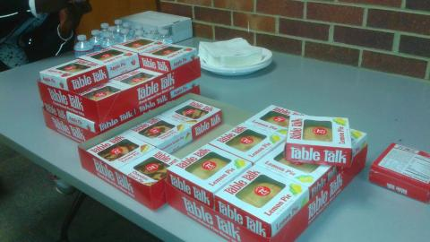 boxes of Table Talk pies