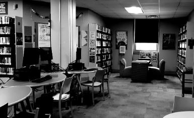 empty library teen room
