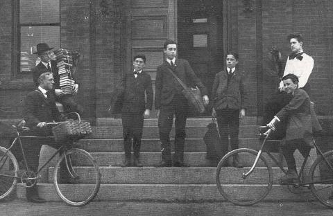 early 20th century book delivery boys somerville ma