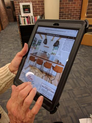 Flipster being used on an iPad