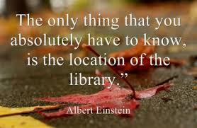 """Image stating """"The only thing you absolutely need to know if the location of the library"""""""