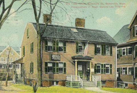 Peter and Oliver Tufts House Somerville Postcard