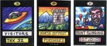 Three art cards by Rob Logan