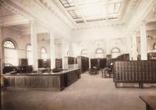 Reference Desk at the Somerville Public Library, early 20th century