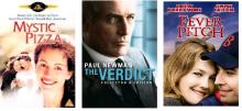 3 DVD covers: Mystic Pizza, The Verdict, Fever Pitch