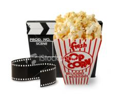 container of movie popcorn