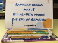 photo of books about Ramadan and Eid