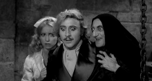 Teri Garr, Gene Wilder, and Marty Feldman in Young Frankenstein