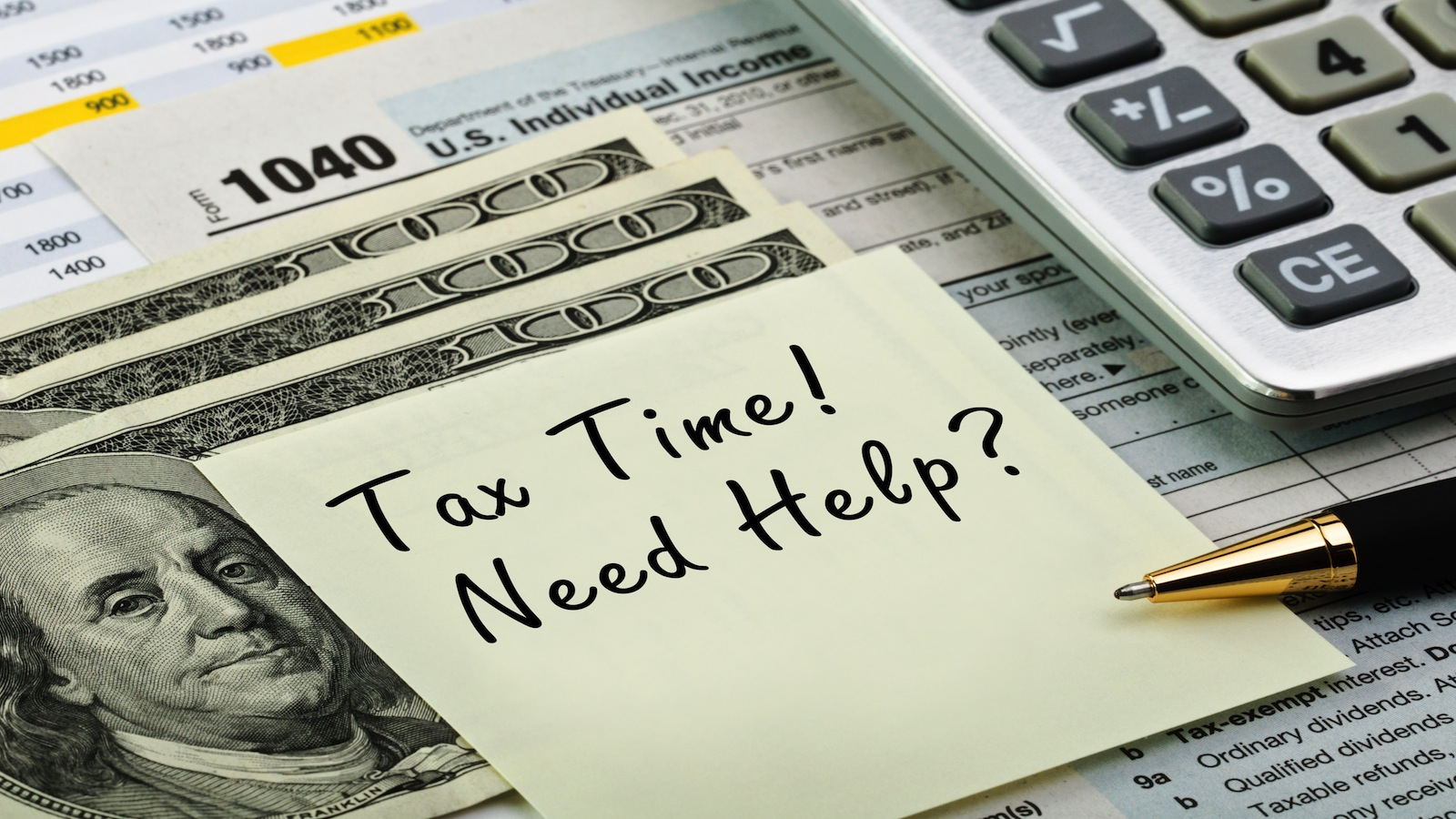 image of tax assistance note