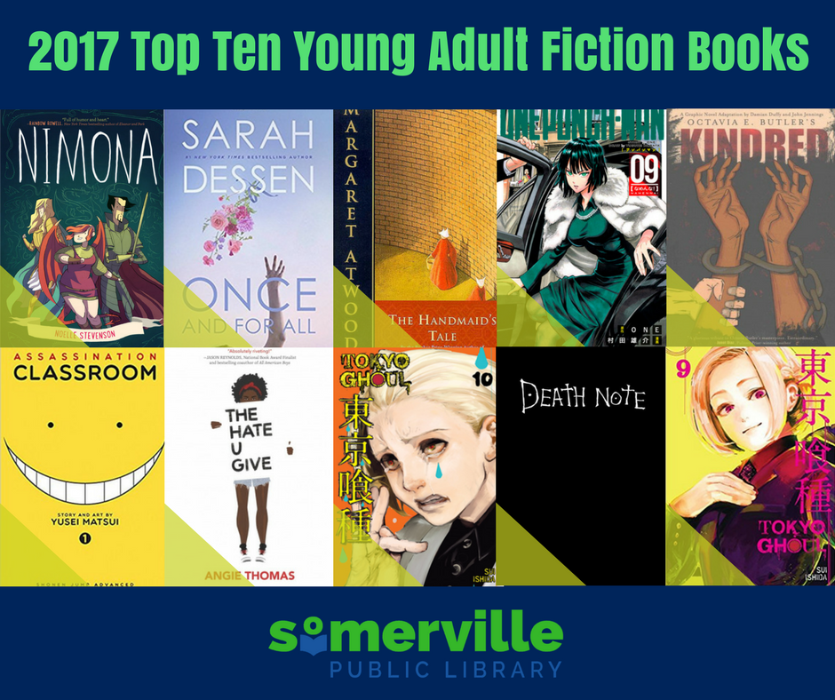 Top Ten in Somerville Young Adult Books of 2017 Book Covers